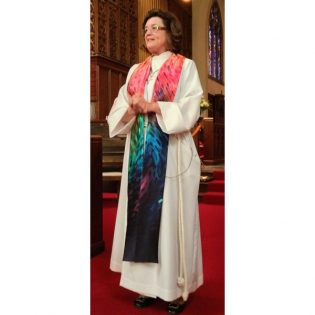 Photograph of clergy wearing Radiance Clergy Stole