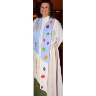 Photograph of clergy wearing Ascension Clergy Stole