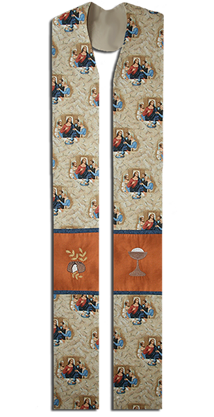 Photograph of Last Supper Clergy Stole