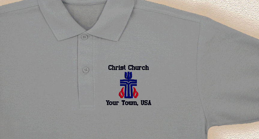 98c12347 Photograph of polo shirt with custom embroidery