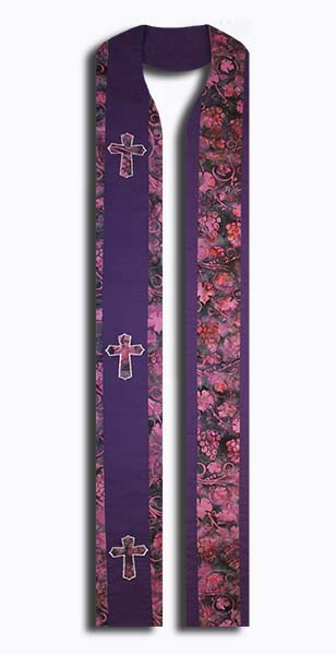 Photograph of Purple Vineyard Clergy Stole