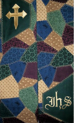 Closeup of Patchwork Clergy Stole