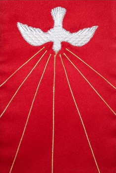 Closeup of dove on Holy Spirit Clergy Stole