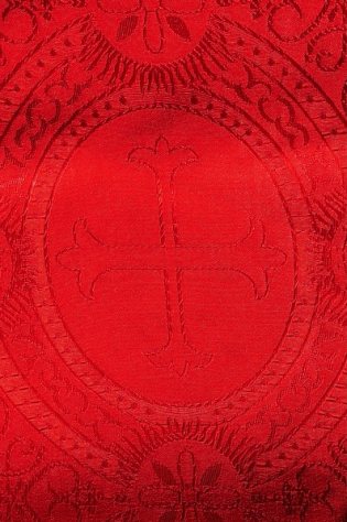 Closeup of Paschal Clergy Stole - Red