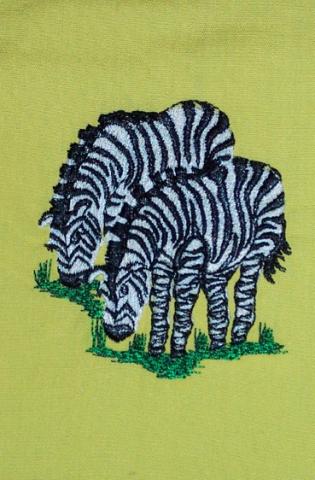 Closeup of Zebra on Noah Clergy Stole