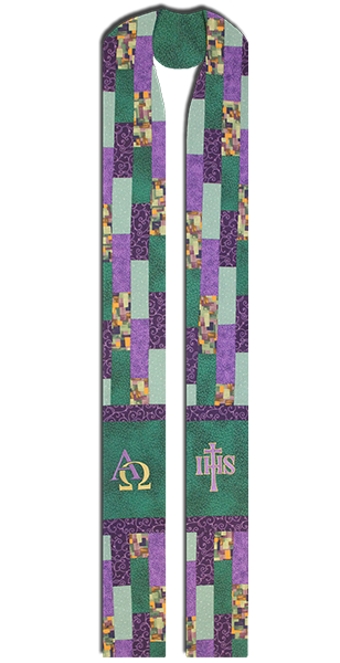 Photograph of Stained Glass Clergy Stole