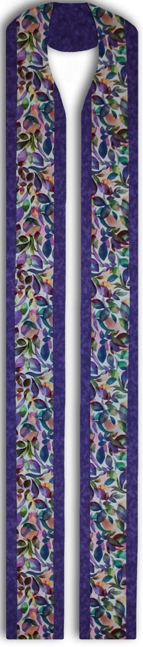 Photograph of Purple Leaves Clergy Stole