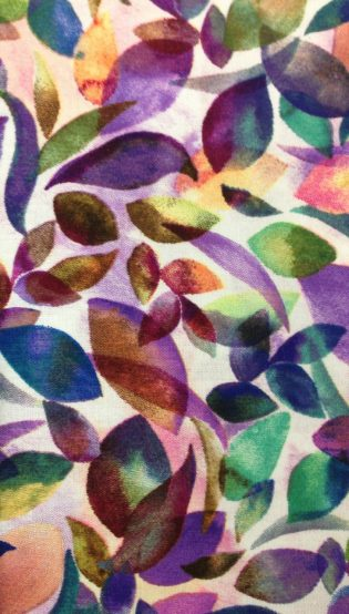 Closeup photograph of Purple Leaves Clergy Stole