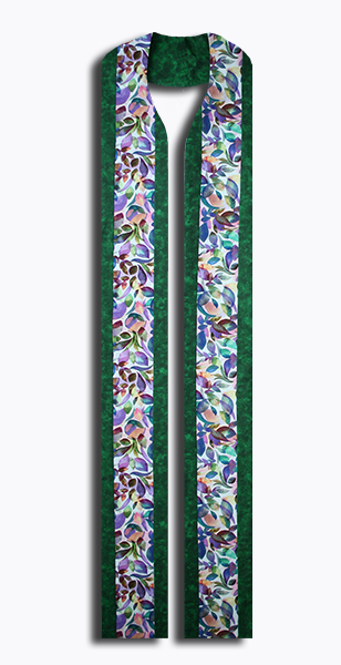 Photograph of Green Leaves Clergy Stole