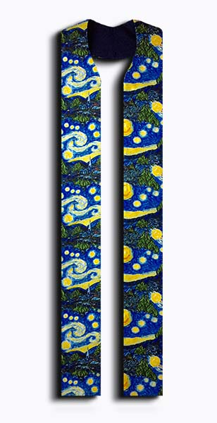 Photograph of Starry Night Clergy Stole